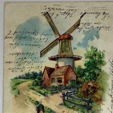 Postales: POSTAL LITOGRÁFICA HOLANDA. CIRCULADA ALEMANIA 1904. Lote 289906823