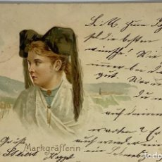 Postales: ALEMANIA POSTAL LITOGRÁFICA MARKGRAFLERIN, SCHWARZWALD. CIRCULADA KAPPEL 1901. Lote 289908923