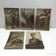 Postales: LOTE DE POSTALES PATRIOTICAS FRANCESAS - AÑOS 1910-1920. Lote 290581853