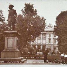 Postales: TORINO. MONUMENTO A ALFONSO LA MARMORA Y PALACIO. ANIMADA. NUEVA. BLANCO/NEGRO. Lote 294498768