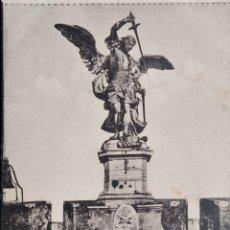Postales: ROMA. CASTILLO S. ANGELO. EL ÁNGEL DE BRONCE. NUEVA. BLANCO/NEGRO. Lote 294498833