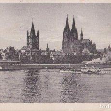 Postales: ALEMANIA, COLONIA, PANORÁMICA – CIRCULADA 1928. Lote 295303443