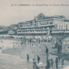 Postales: FRANCIA, BIARRITZ, LA GRANDE PLAGE ET LE CASINO MUNICIPAL – S/C. Lote 295305038