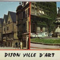 Postales: FRANCIA, DIJON COTE D'OR VILLE D'ART. PHOTO MOISY. CIRCULADA 1968. MATASELLO DIJON.. Lote 295309673