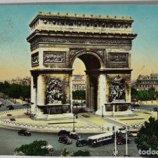 Postales: FRANCIA, PARÍS. L'ARC DE TRIOMPHE DE LETOILE. YVON. CIRCULADS 1939. AUTOS.. Lote 295311173