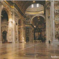 Postales: ITALIA, ROMA, BASÍLICA DE SAN PEDRO, INTERIOR – PLURIGRAF 616 – S/C. Lote 295368968