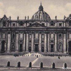 Postales: ITALIA, VATICANO, PLAZA S.PEDRO, LA BASÍLICA – S.G.CESARE CAPELLO – S/C. Lote 295369473