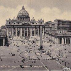 Postales: ITALIA, VATICANO, PLAZA S.PEDRO, LA BASÍLICA – S.G.CESARE CAPELLO – S/C. Lote 295369533