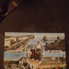 Postales: SOUVENIR D'HENDAYE. RARA. SIN CIRCULAR. CAR. Lote 295528538