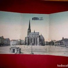 Postales: POSTAL TRIPLE DE PLAZA DE LA REPÚBLICA DE NAMESTI ( PRAGA ) VERTAG H.& CO. 1908. Lote 295697873