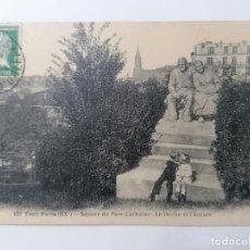 Postales: POSTAL TOUT PARIS, PLAZA PERE-LACHAISE - LA DECLINACIÓN Y EL AMANECER, CIRCULADA 1926. Lote 296712148