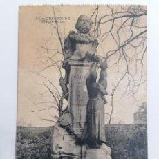 Postales: POSTAL CHERBORG, ESTATUA MILLET, CIRCULADA 1914. Lote 296713653