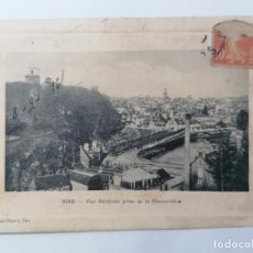 Postales: POSTAL VIRE, VISTA GENERAL, TOMANDO EL BESNARDIERE, CIRCULADA 1916. Lote 296715233