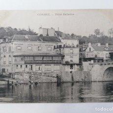 Postales: POSTAL CORBEIL - HOTEL BELLEVUE, CIRCULADA 1906. Lote 296717543