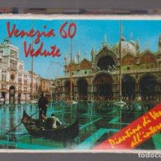 Postales: ITALIA - VENECIA - 60 FOTOS - MAPA - ACORDEÓN KODAK. Lote 296717638