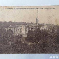 Postales: POSTAL MONASTERIO DE SANTA MARIA DE LA PIERRE-QUI-VIRE, CIRCULADA 1931. Lote 296718338
