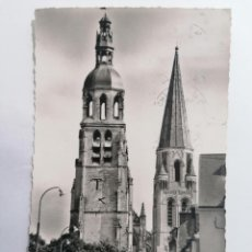 Postales: POSTAL VENDOME, LA TORRE DE CAMPANA Y LA PLAZA SAINT-MARTIN, CIRCULADA. Lote 296718988