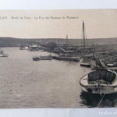 Postales: POSTAL MEULAN, FRONTERAS DEL SEINE, EL PUERTO DE LOS BARCOS DEL PLACER, AÑOS 20. Lote 296720203