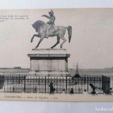 Postales: POSTAL CHERBOURG, ESTATUA DE NAPOLEON. Lote 296720333