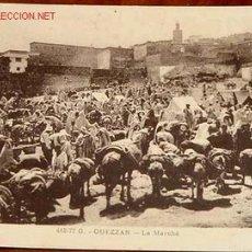 Postales: ANTIGUA POSTAL DE GUEZZAN, EL MERCADO - PROTECTORADO ESPAÑOL EN MARRUECOS. Lote 1801579