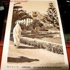 Postales: ANTIGUA POSTAL DE LARACHE - UN TROZO DE LA PLAZA DE ESPAÑA. Lote 946162