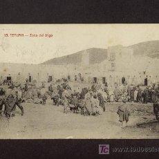 Postales: POSTAL DE TETUAN: ZOCO DEL TRIGO (ED.ARRIBAS NUM.15) (ANIMADA). Lote 3334511