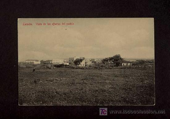 POSTAL DE LARACHE: VISTA DE LAS AFUERAS DEL PUEBLO (ED.TADDEI NUM.37) (Postales - Postales Temáticas - Ex Colonias y Protectorado Español)