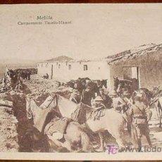 Postales: ANTIGUA POSTAL DE CAMPAÑA DE ESPAÑA EN MARRUECOS - GUERRA DEL RIF - CAMPAMENTO DE TAURIA HAMET - MEL. Lote 4193754