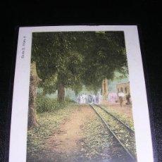 Postales: SERIE E Nº 4, GUINEA ESPAÑOLA, CAMINO DE SAN CARLOS, FERNANDO POO. Lote 7707082