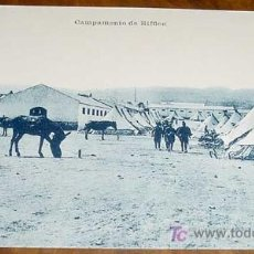 Postales: ANTIGUA POSTAL DE LA GUERRA DEL RIF (MARRUECOS) . CAMPAMENTO RIFFIEN - LA ESTACION DE TREN, FERROCAR. Lote 20874397