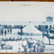 Postales: ANTIGUA POSTAL DE LA GUERRA DEL RIF (MARRUECOS) . LA RESTINGA - EDICION M. ARRIBAS - SIN CIRCULAR. Lote 6038654