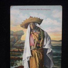 Postales: MARRUECOS. FEMME MAROCAINE DES MONTANGES. SIN CIRCULAR. . Lote 26210714
