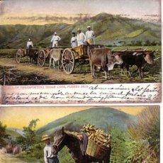Postales: PUERTO RICO . 2 POSTALES CIRCULADAS 1907.. Lote 12025707