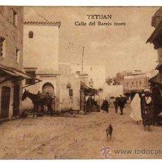 Postales: TETUAN CALLE DEL BARRIO MORO AÑO 1920 CIRCULADA. Lote 11106685