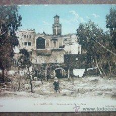 Postales: POSTAL ANTIGUA - LARACHE - COMANDANCIA DE LA ZONA. Lote 19228675