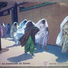 Postales: POSTAL ANTIGUA ARABE - LA PROMENADE DU HAREM.. Lote 27022300