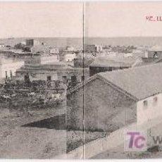 Postales: MELILLA. VISTA PANORÁMICA DEL BARRIO DEL HIPÓDROMO. POSTAL DOBLE. BOIX HERMANOS. NO CIRCULADA. Lote 17372594