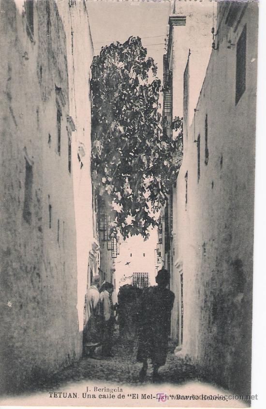 TETUÁN. UNA CALLE DE EL MEL-LAH (BARRIO HEBREO). HAUSER Y MENET. NO CIRCULADA (Postales - Postales Temáticas - Ex Colonias y Protectorado Español)