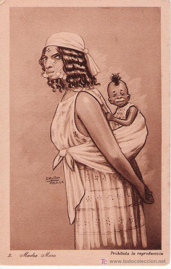 MADRE MORA. D. MULLER Nº 2. 1921 (Postales - Postales Temáticas - Ex Colonias y Protectorado Español)