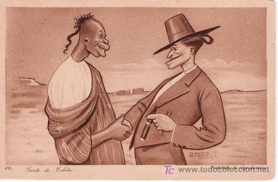 GENTE DE COLETA. D. MULLER Nº 10. 1921 (Postales - Postales Temáticas - Ex Colonias y Protectorado Español)