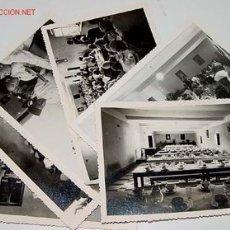 Postales: LOTE DE 6 ANTIGUAS FOTOGRAFIAS NIÑOS HUERFANOS EN COMEDOR DEL ORFANATO FRANCO EN MELUSA - MELLOUSSA . Lote 27616759