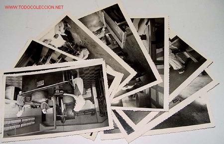 LOTE DE 10 ANTIGUAS FOTOGRAFIAS NIÑOS Y NIÑAS HUERFANOS APRENDIENDO OFICIOS EN EL ORFANATO FRANCO EN (Postales - Postales Temáticas - Ex Colonias y Protectorado Español)