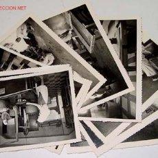 Postales: LOTE DE 10 ANTIGUAS FOTOGRAFIAS NIÑOS Y NIÑAS HUERFANOS APRENDIENDO OFICIOS EN EL ORFANATO FRANCO EN. Lote 26947757