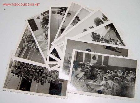 LOTE DE 13 ANTIGUAS FOTOGRAFIAS DE NIÑAS HUERFANAS EN EL ORFANATO FRANCO EN MELUSA - MELLOUSSA (AREA (Postales - Postales Temáticas - Ex Colonias y Protectorado Español)