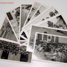 Postales: LOTE DE 13 ANTIGUAS FOTOGRAFIAS DE NIÑAS HUERFANAS EN EL ORFANATO FRANCO EN MELUSA - MELLOUSSA (AREA. Lote 27526242