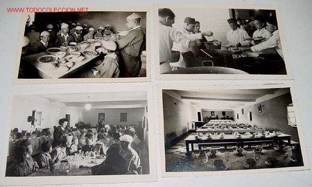 Postales: LOTE DE 6 ANTIGUAS FOTOGRAFIAS NIÑOS HUERFANOS EN COMEDOR DEL ORFANATO FRANCO EN MELUSA - MELLOUSSA - Foto 2 - 27616759