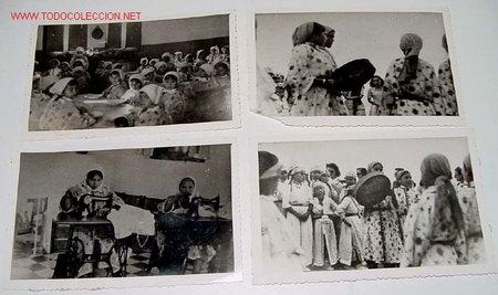 Postales: LOTE DE 13 ANTIGUAS FOTOGRAFIAS DE NIÑAS HUERFANAS EN EL ORFANATO FRANCO EN MELUSA - MELLOUSSA (AREA - Foto 2 - 27526242