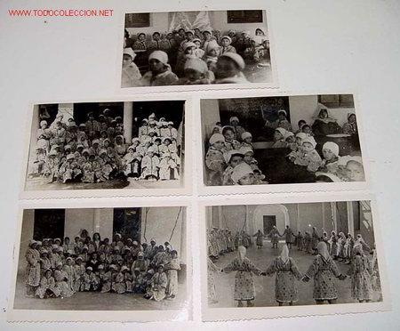Postales: LOTE DE 13 ANTIGUAS FOTOGRAFIAS DE NIÑAS HUERFANAS EN EL ORFANATO FRANCO EN MELUSA - MELLOUSSA (AREA - Foto 4 - 27526242