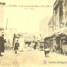 Postales: TARJETA POSTAL DE TETUAN.CALLE PRINCIPAL DEL BARRIO MORO. Lote 13042028