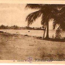 Postales: POSTAL GUINEA ESPAÑOLA RIO BENITO PLAYA. Lote 9981765